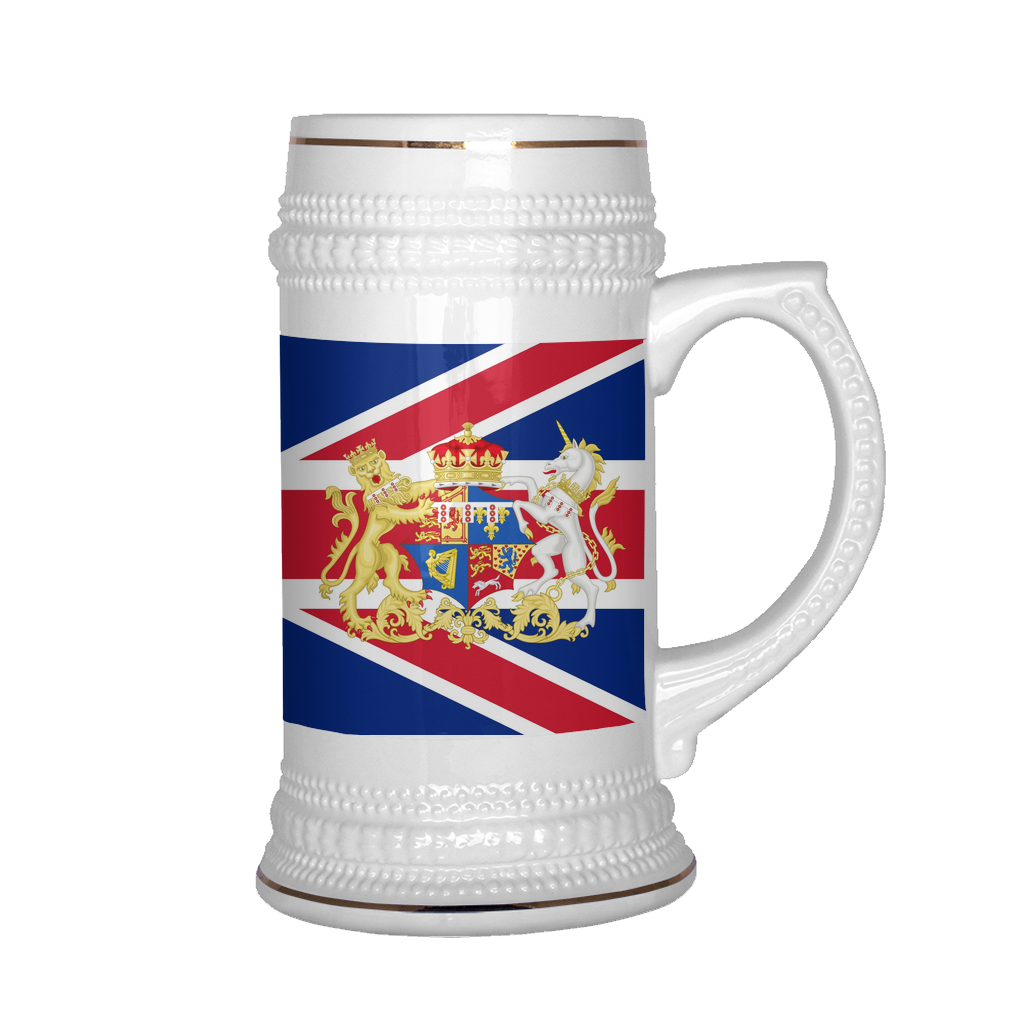 British Coat of Arms 22oz Beer Stein