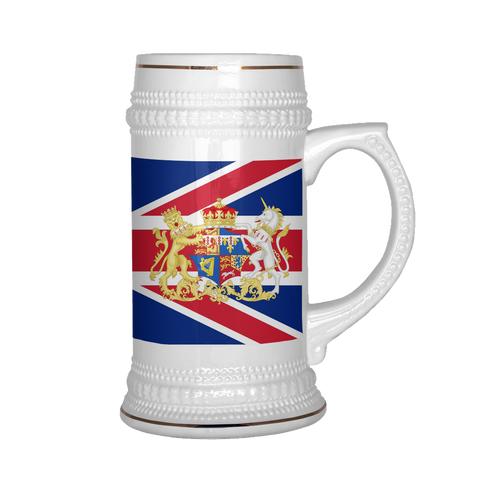 British Coat of Arms 22oz Beer Mug, Beer stein - Nation Love