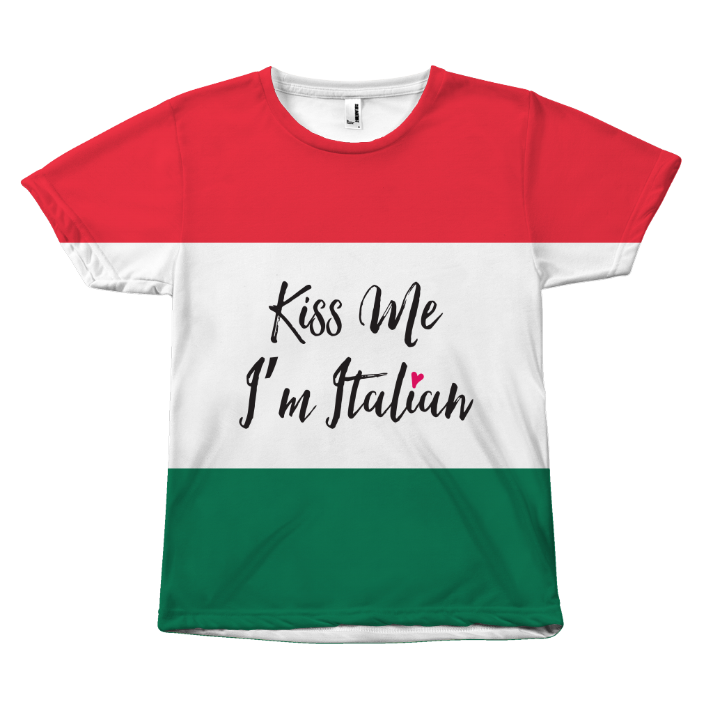 Kiss Me, I'm Italian Unisex T-Shirt - Nation Love