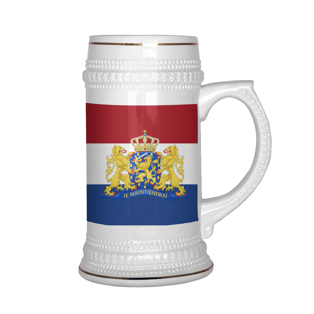 Dutch Coat of Arms 22oz Beer Mug, Beer Stein - Nation Love