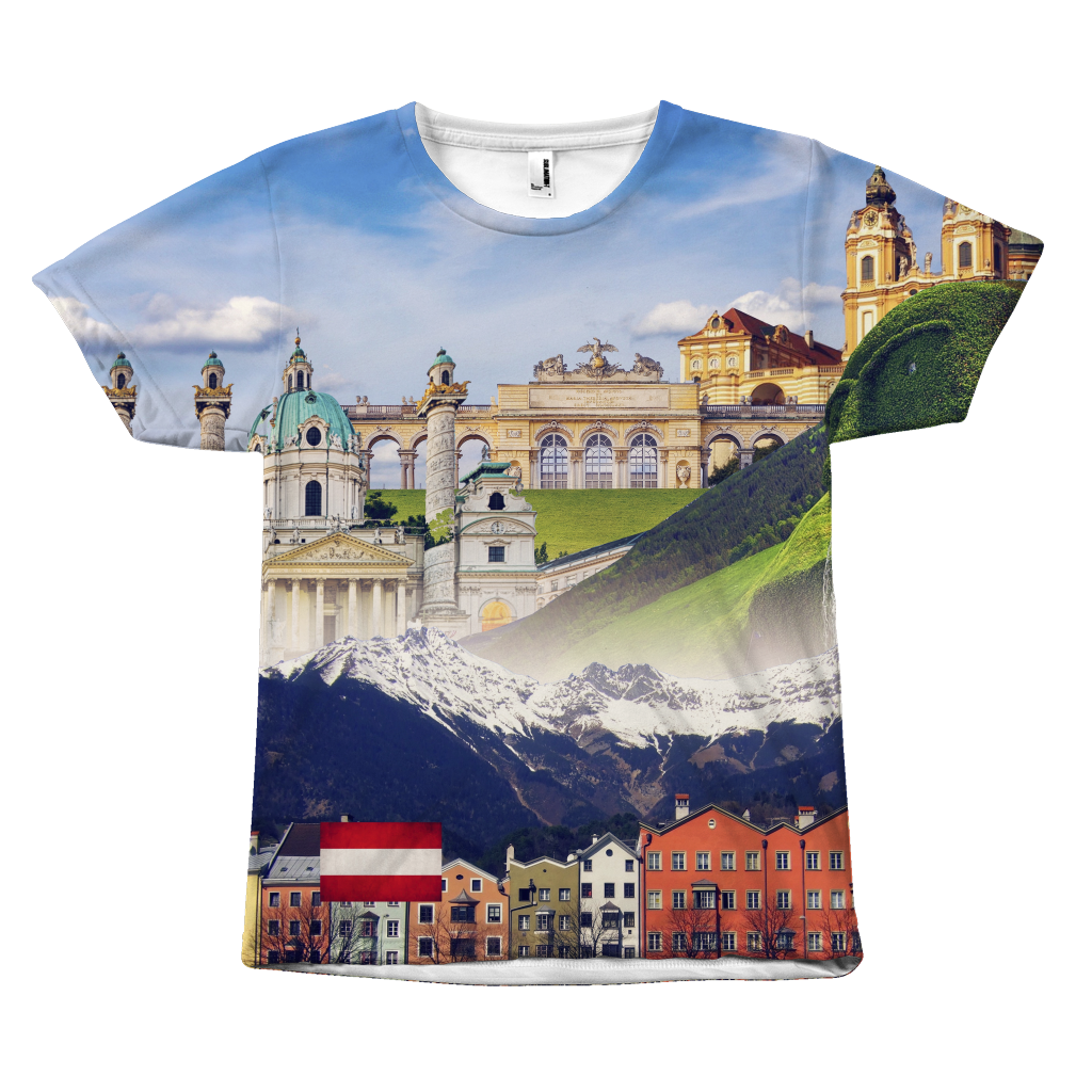 Austria Landmarks Unisex T-Shirt - Nation Love