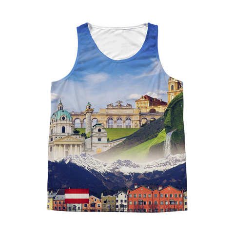 Austria Landmarks Unisex Tank - Nation Love