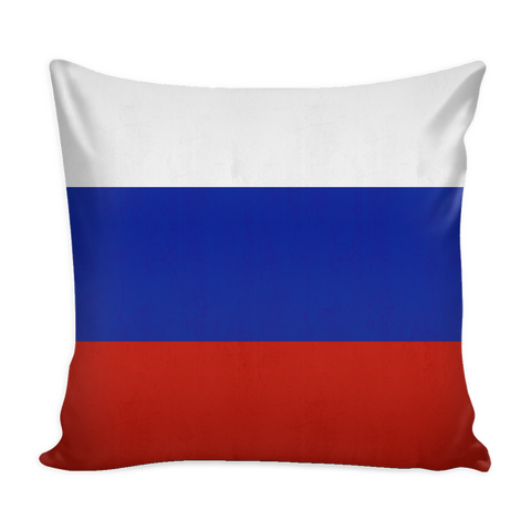 Russian Flag Decorative Pillow Case
