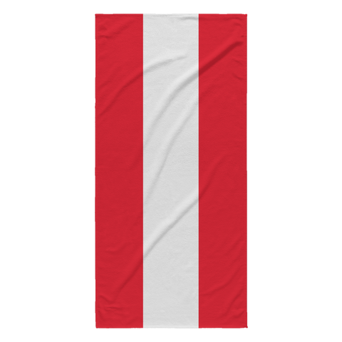 Austrian Flag Beach Towel
