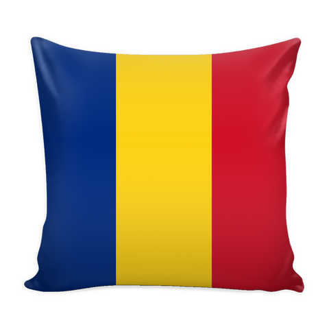 Romanian Flag Decorative Pillow Case