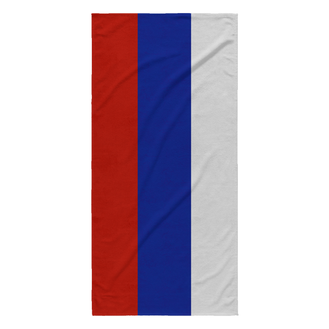 Russian Flag Beach Towel