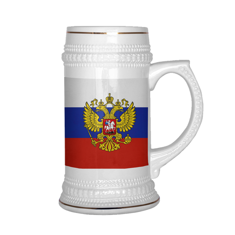 Russian Coat of Arms 22oz Beer Stein, beer mug - Nation Love