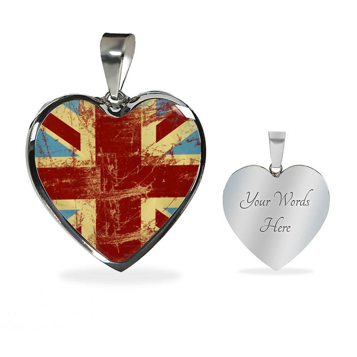 BrBritish Flag Luxury Heart Necklace - Nation Love