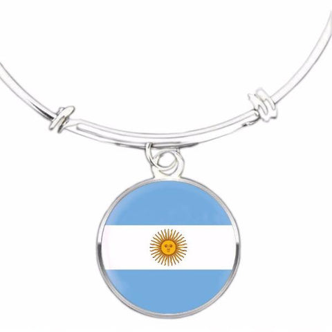 Argentinian Flag Bangle Bracelet - Nation Love