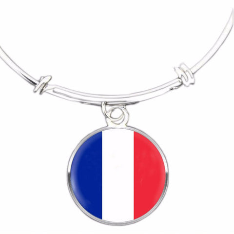 French Flag Bangle Bracelet