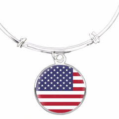 American Flag Bangle Bracelet - Nation Love