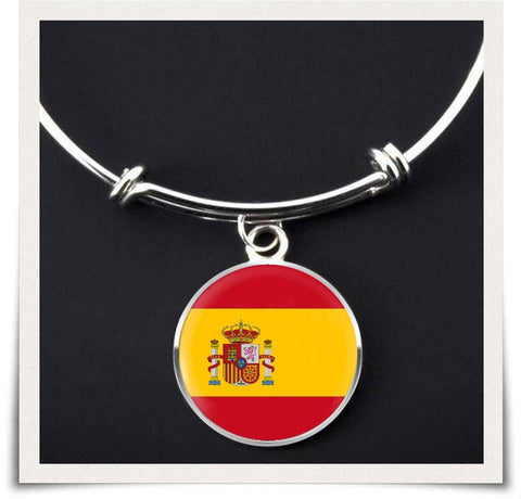 Spanish Flag Bangle Bracelet