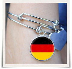 German Flag Bangle Bracelet