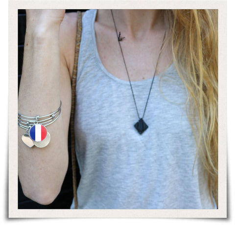 French Flag Bangle Bracelet - Nation Love