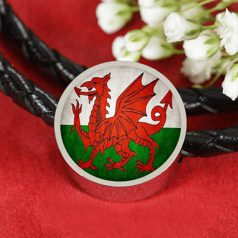 Welsh Flag Circle Charm
