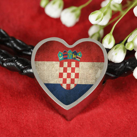 Croatian Flag Heart Charm
