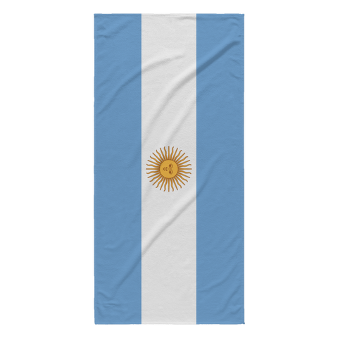 Argentinian Flag Beach Towel