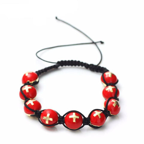 Swiss Soccer Ball Macrame Beaded Bracelet - Nation Love