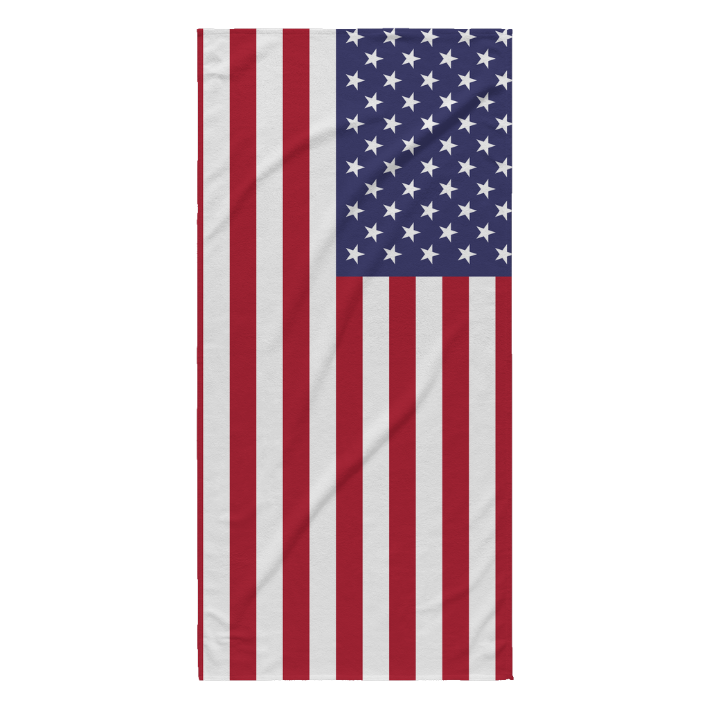 American Flag Beach Towel - Nation Love