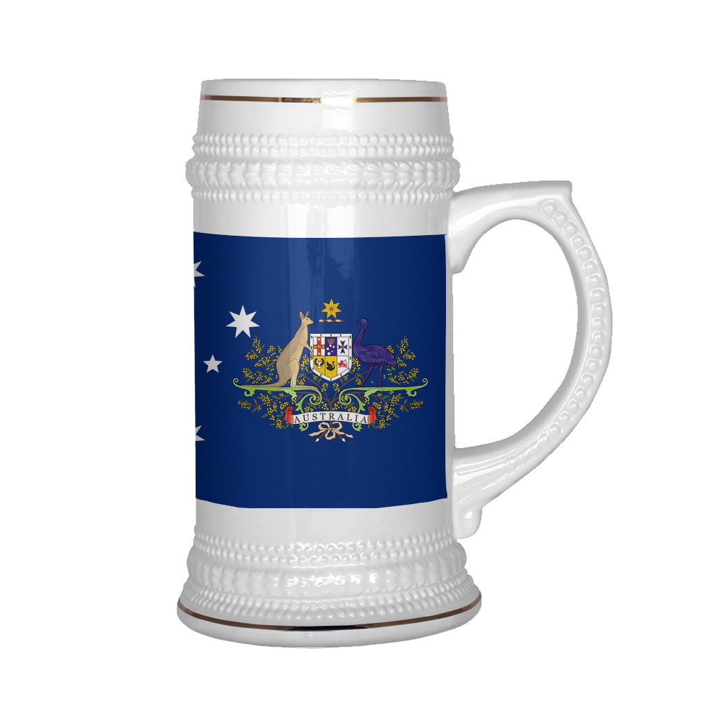Australian Coat of Arms 22oz Beer Stein