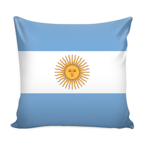 Argentinian Flag Decorative Pillow Case