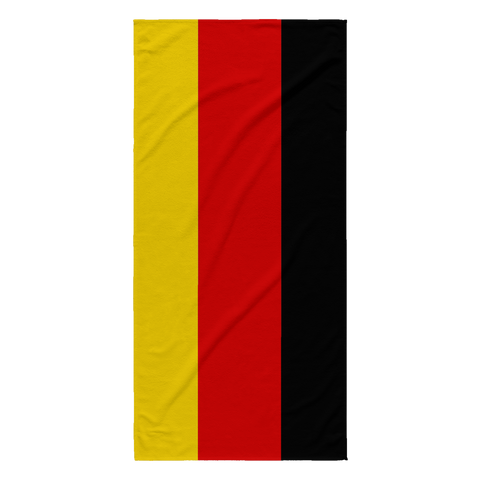 German Flag Beach Towel
