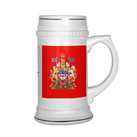 Canadian Coat of Arms 22oz Beer Mug, Beer Stein - Nation Love