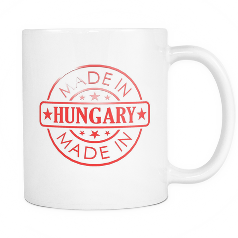 Made in Hungary 11oz Coffee Mug - Nation Love