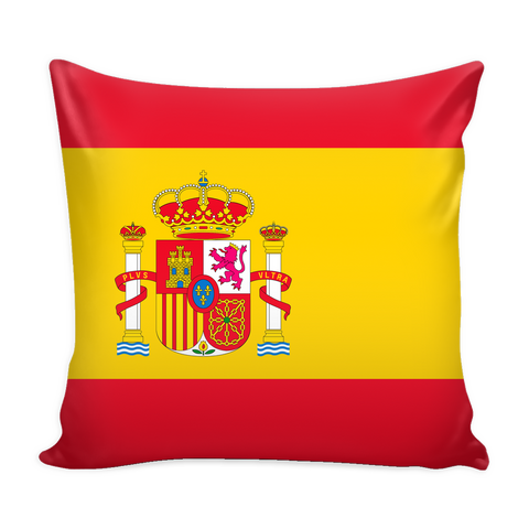 Spanish Flag Decorative Pillow Case