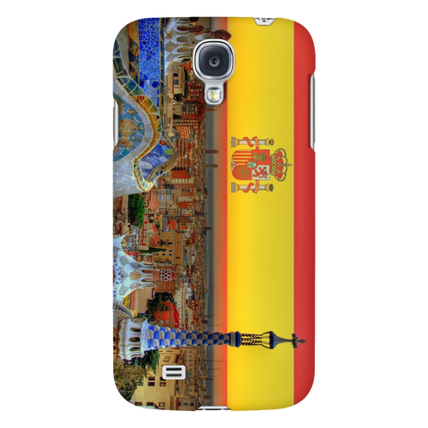 Barcelona Skyline Protective Phone Case