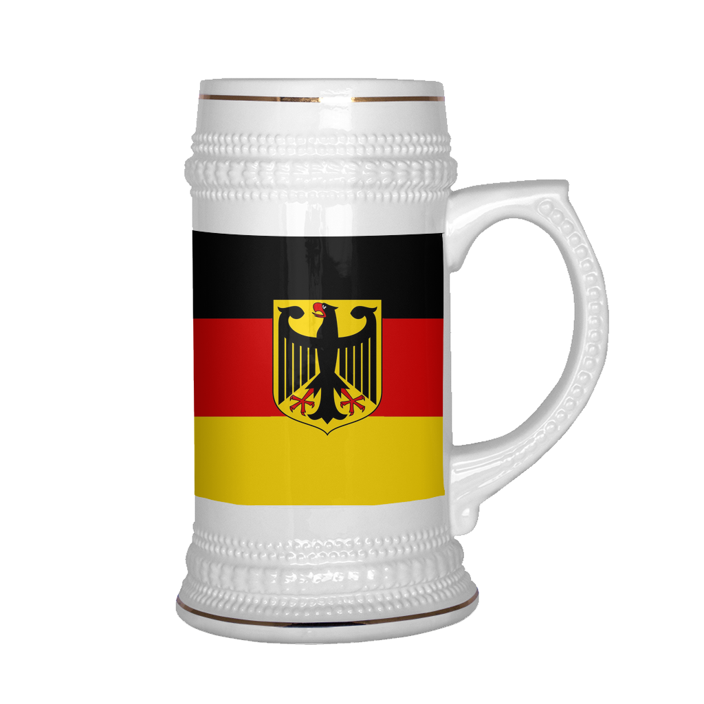 German Coat of Arms 22oz Beer Stein
