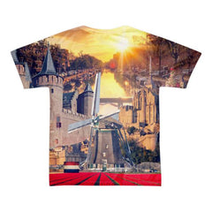Dutch Landmarks Short sleeve men's t-shirt (unisex) - Nation Love