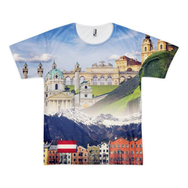 Austrian Landmarks Short Sleeve T-Shirt (unisex) - Nation Love