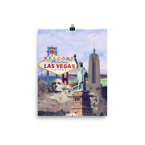 American Landmarks Poster - Nation Love