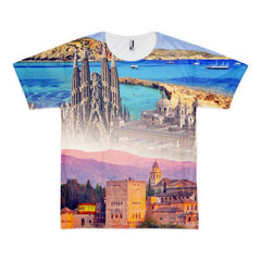 Spanish Landmarks Short Sleeve Unisex T-shirt - Nation Love