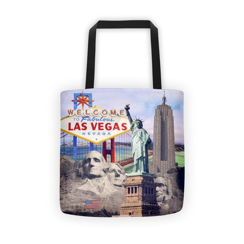American Landmarks Pritnted Tote Bag- Nation Love