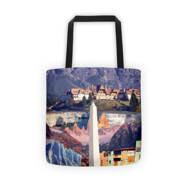Argentinian Landmarks Printed Tote Bag [off] - Nation Love