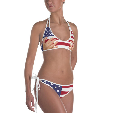 2-in-1 Italian American Reversible Bikini - Nation Love