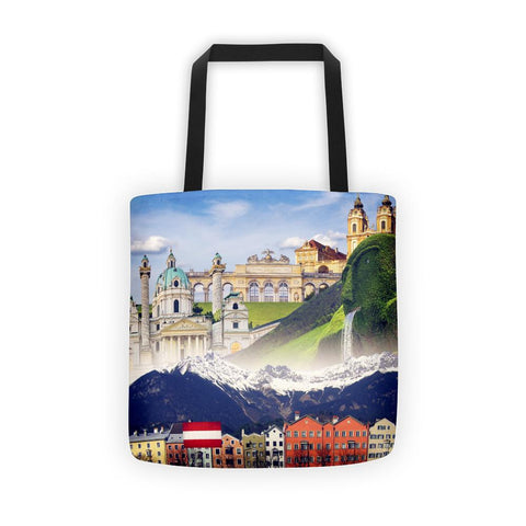Austrian Landmarks Printed Tote bag - Nation Love