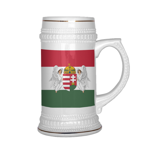 Hungarian Coat of Arms 22oz Beer Stein