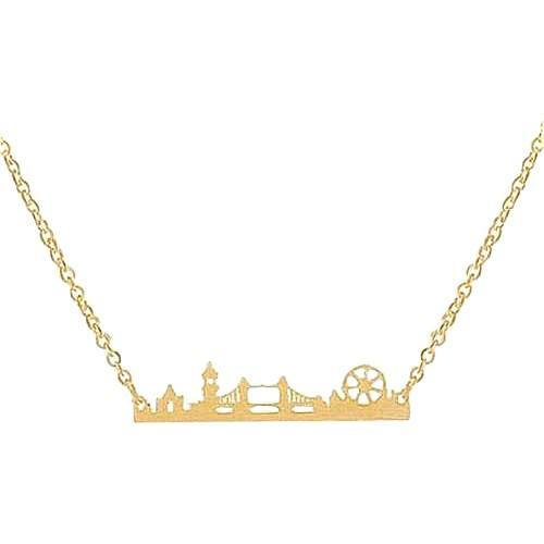 London Miniature Skyline Necklace [Silver, Gold or Rose Gold] - Nation Love