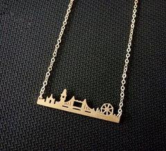 Necklace - London Miniature Skyline Necklace [Silver, Gold Or Rose Gold]