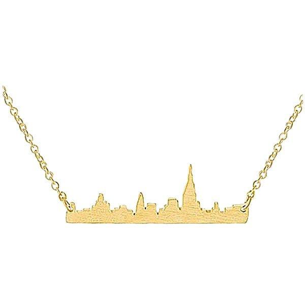 New York City Miniature Skyline Necklace [Silver, Gold or Rose Gold] - Nation Love