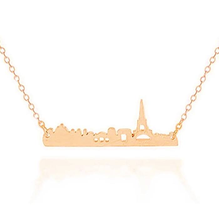 Paris Miniature Skyline Necklace [Silver, Gold or Rose Gold] - Nation Love