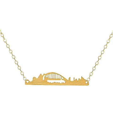 Sidney Miniature Skyline Necklace [Silver, Gold or Rose Gold] - Nation Love