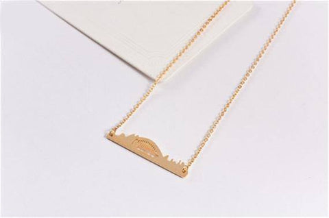 Sydney Miniature Skyline Necklace [Silver, Gold or Rose Gold] - Nation Love