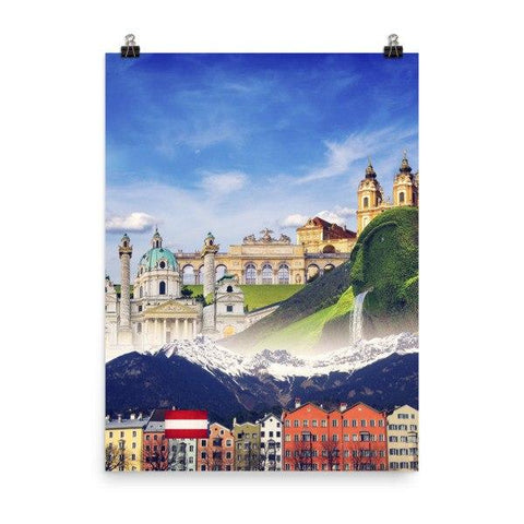 Austrian Landmarks Poster - Nation Love