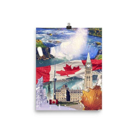 Canadian Landmarks Poster - Nation Love