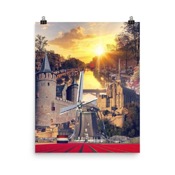 Dutch Landmarks Poster - Nation Love