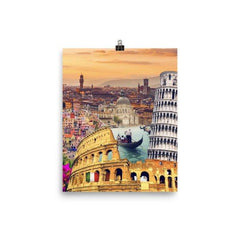 Italian Landmarks Poster - Nation Love